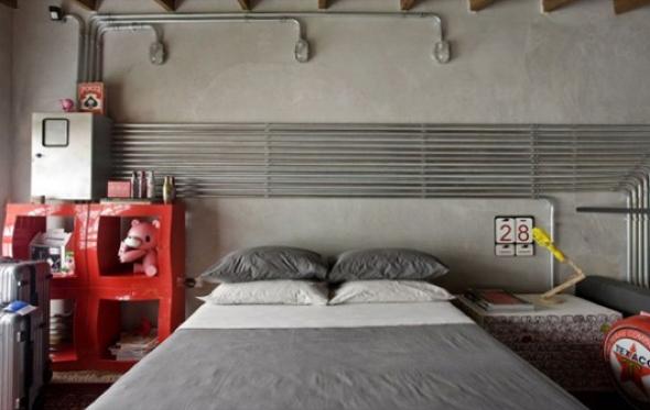 Decoração em concreto aparente em casas e apartamentos-2