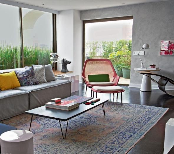 Decoração em concreto aparente em casas e apartamentos-3
