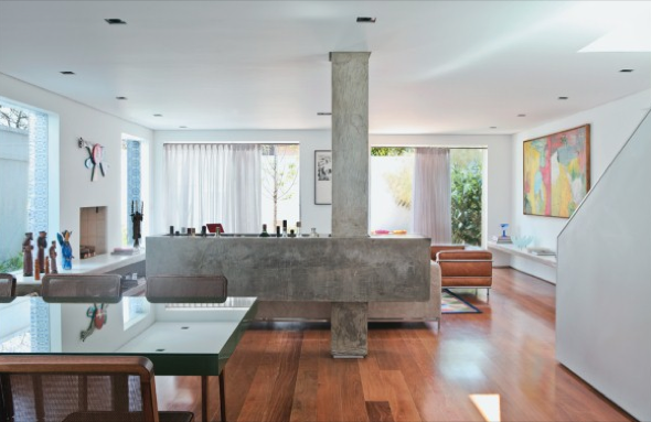 Decoração em concreto aparente em casas e apartamentos-8