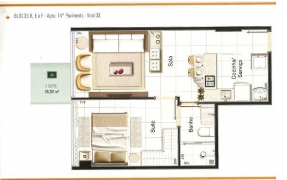2-Apartamentos com planta livre
