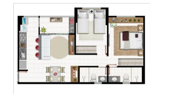 4-Apartamentos com planta livre