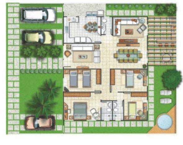 10-plantas de casas com 4 quartos