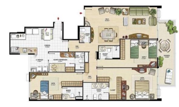 10-plantas de casas com salas grandes