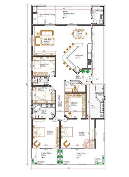 15-plantas de casas com 4 quartos