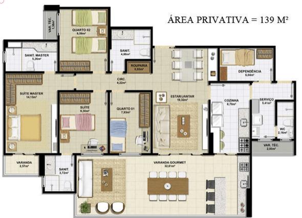 18-plantas de casas com 4 quartos