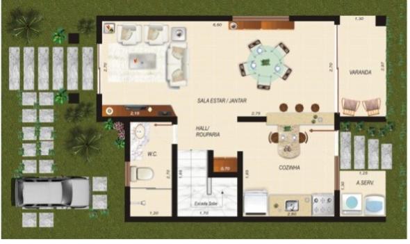 4-plantas de casas com salas grandes