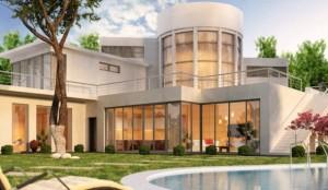 Fachadas de casas com vidros 002