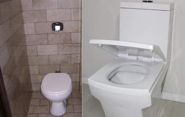 3-Caixa acoplada ou válvula de descarga de parede no banheiro, qual usar