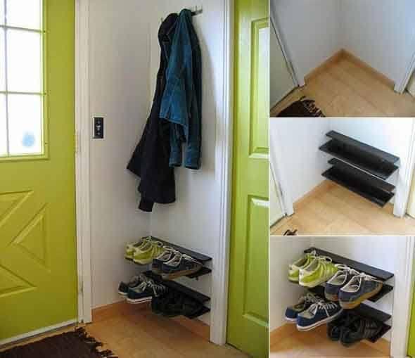 927c32b51 14 Porta sapatos para usar na entrada que você fazer em casa