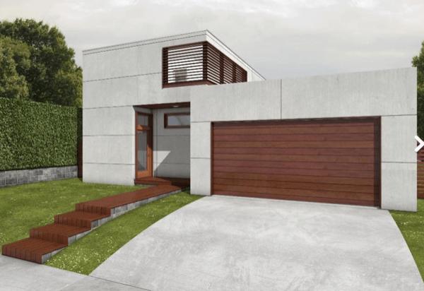 2-Linda casa com linhas retas com 182m2