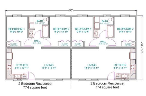 2-plantas de casas duplex modelos