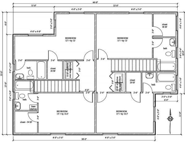 36-plantas de casas duplex modelos
