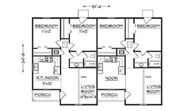 39-plantas de casas duplex modelos