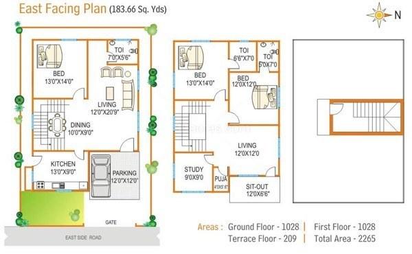 4-plantas de casas duplex modelos