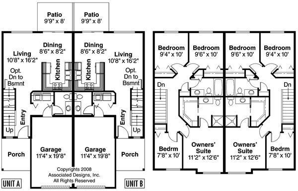7-plantas de casas duplex modelos