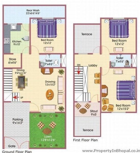 8-plantas de casas duplex modelos