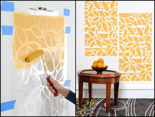 Como fazer estêncil para pintar paredes 002