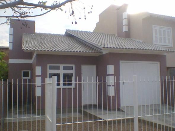 Frente de casas com garagem 017