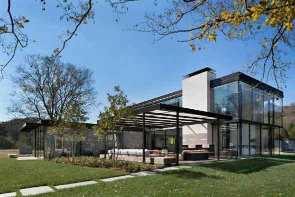 Casa de campo moderna no Tennessee 009