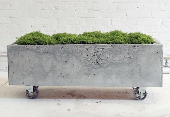 Como fazer um canteiro de concreto para flores 001