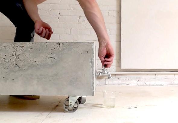 Como fazer um canteiro de concreto para flores 007