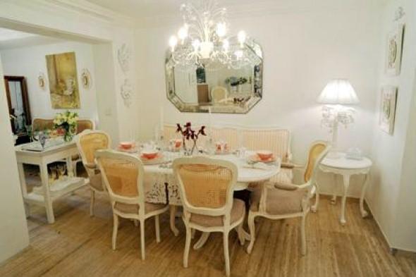 Decorar uma sala de jantar romântica 001