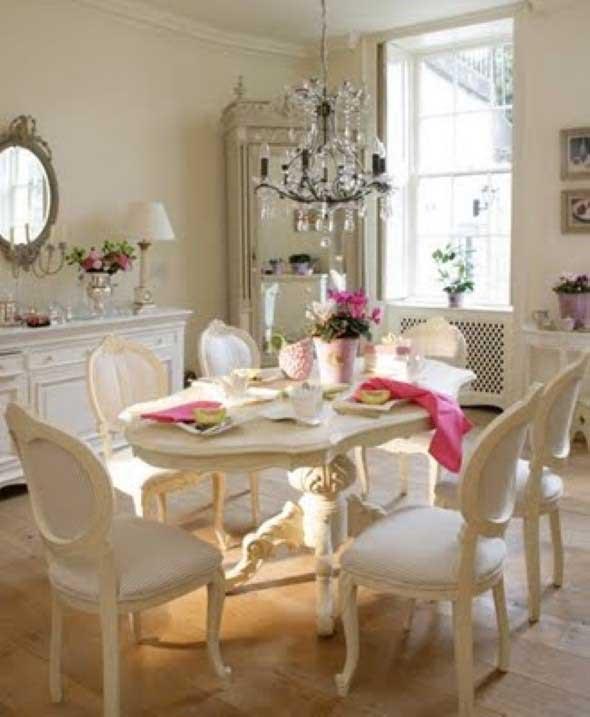 Decorar uma sala de jantar romântica 002