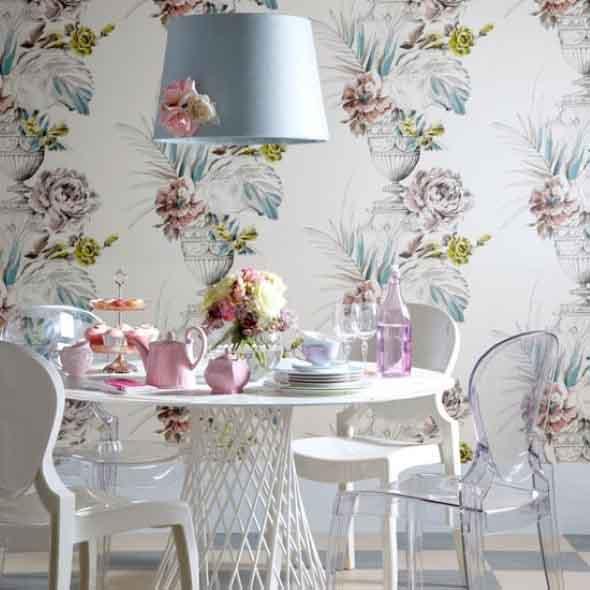 Decorar uma sala de jantar romântica 004