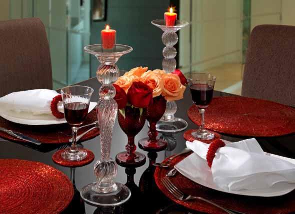 Decorar uma sala de jantar romântica 007