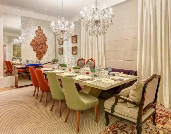 Decorar uma sala de jantar romântica 009