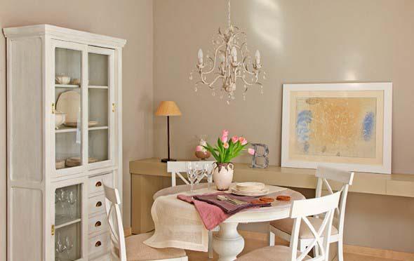 Decorar uma sala de jantar romântica 010