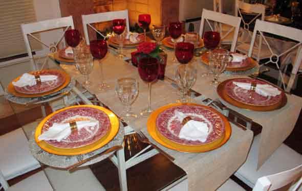Decorar uma sala de jantar romântica 014