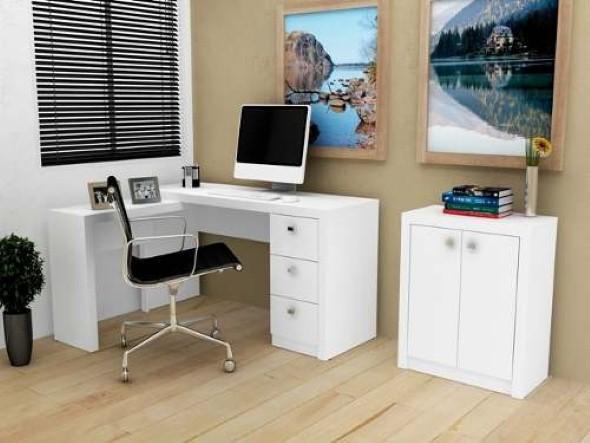 Mesas de escritório em L como usá-las 004