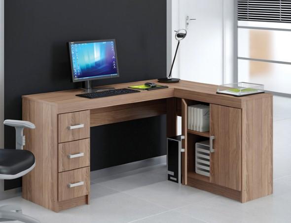 Mesas de escritório em L como usá-las 005