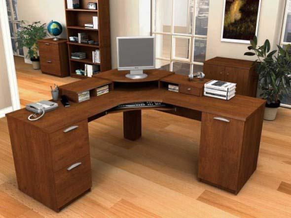 Mesas de escritório em L como usá-las 006