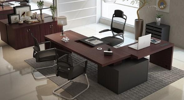 Mesas de escritório em L como usá-las 007