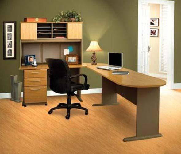 Mesas de escritório em L como usá-las 009