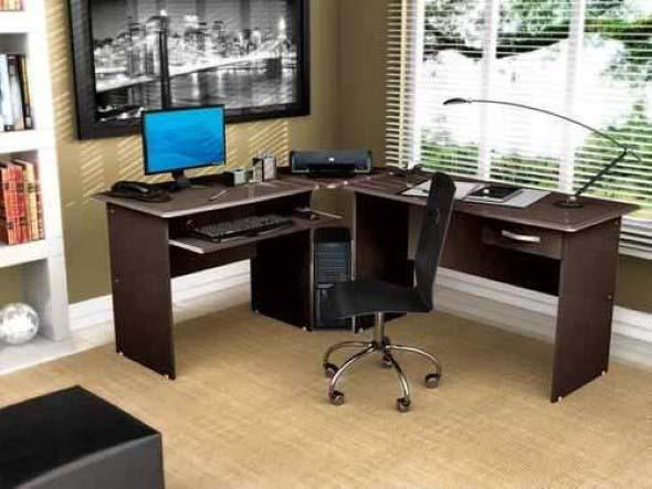 Mesas de escritório em L como usá-las 010