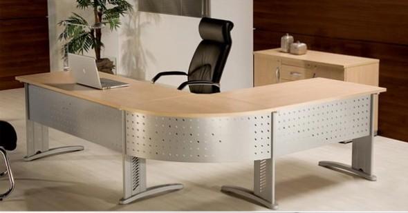 Mesas de escritório em L como usá-las 015