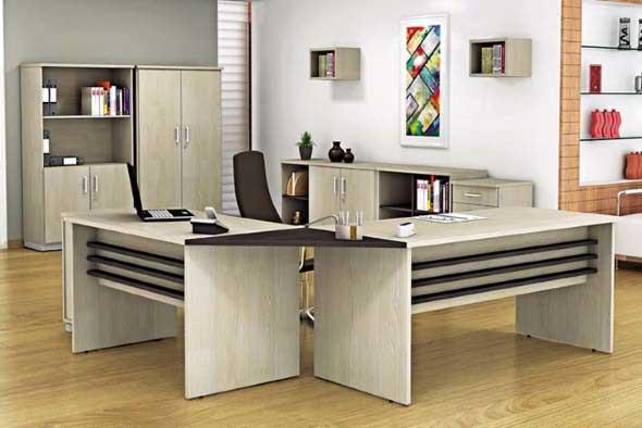 Mesas de escritório em L como usá-las 016