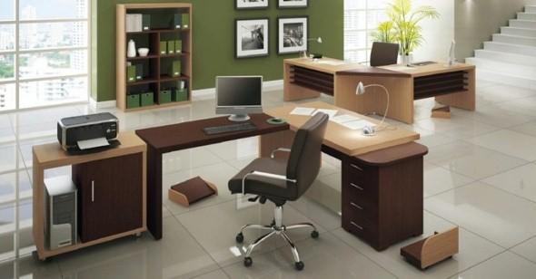 Mesas de escritório em L como usá-las 017
