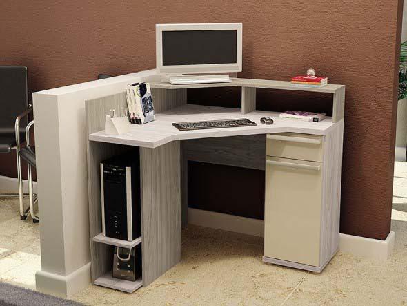 Mesas de escritório em L como usá-las 018