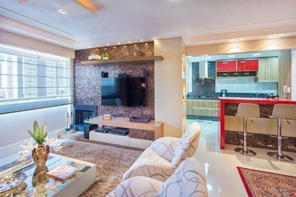 Pastilhas de vidro na sala 012