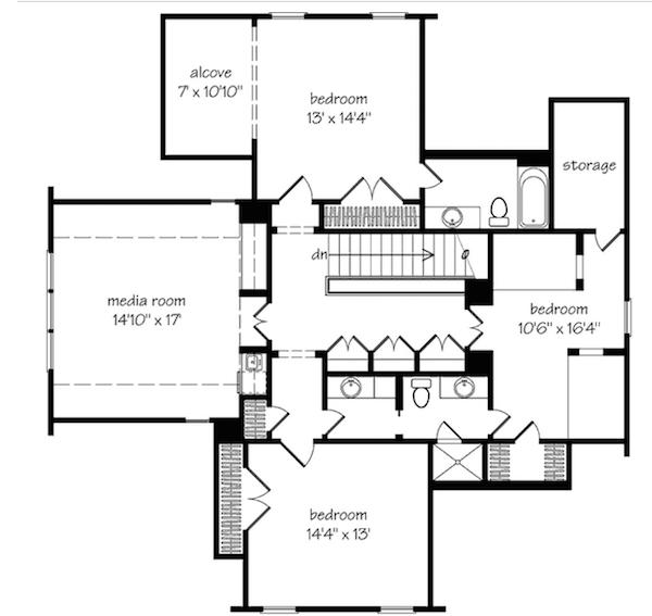planta de casa bem dividida 53