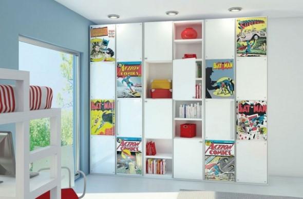 Casa decorada com história em quadrinhos 002