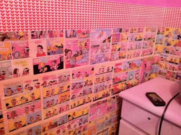 Casa decorada com história em quadrinhos 010