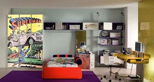 Casa decorada com história em quadrinhos 016