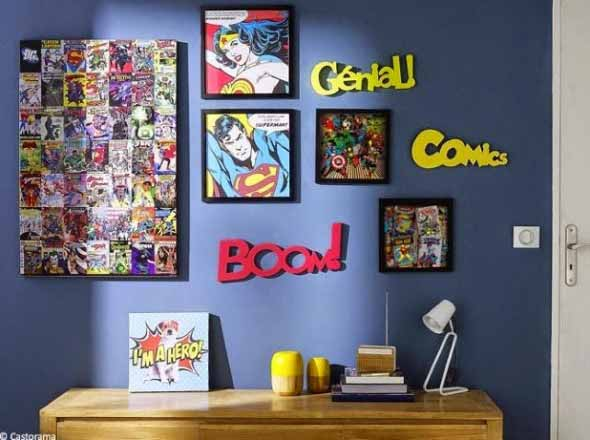 Casa decorada com história em quadrinhos 017