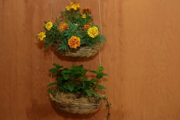 Como usar cestos de vime na decoração 012