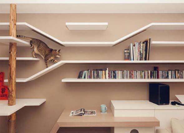 Móveis criativos para quem tem gatos 001